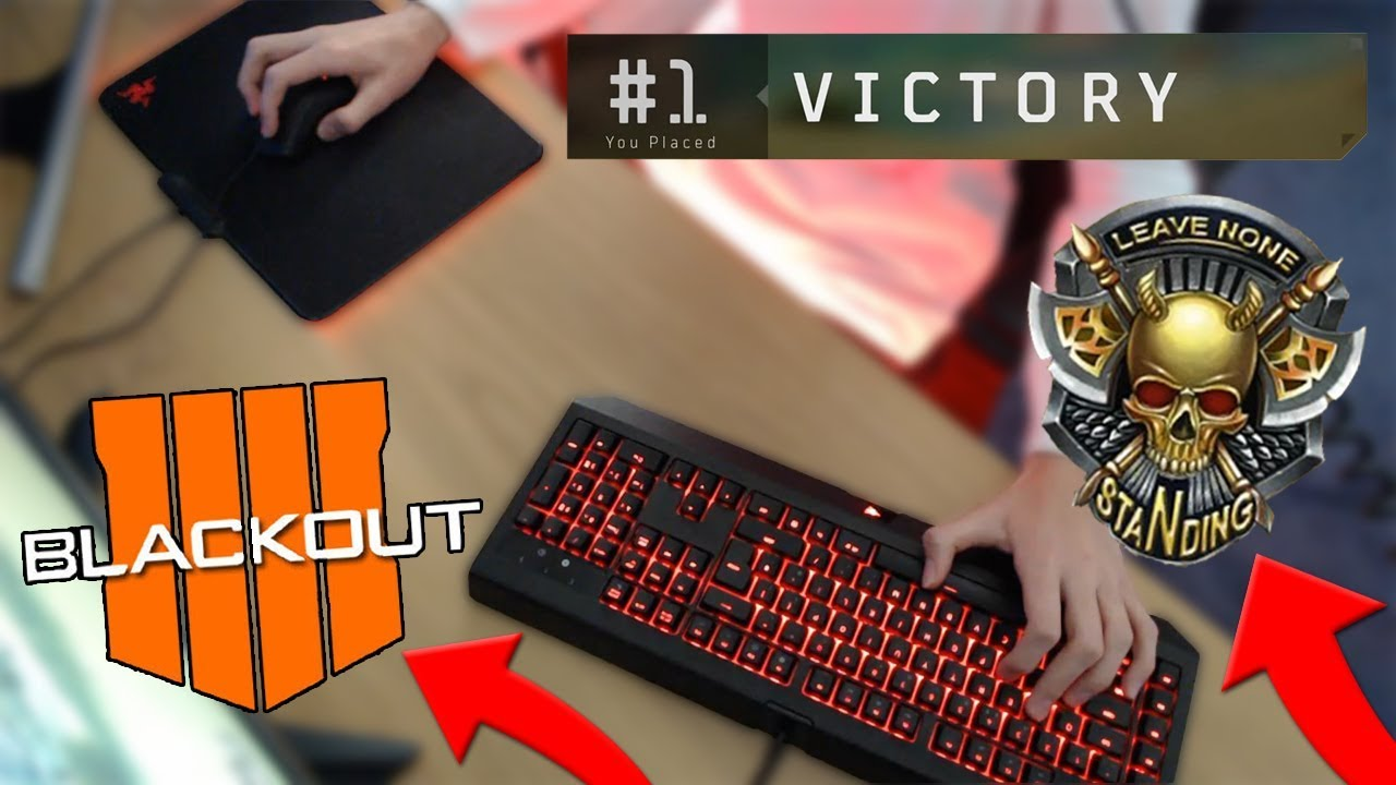 BLACK OPS 4 BLACKOUT WIN! + KEYBOARD CAM (Call of Duty Battle Royale)