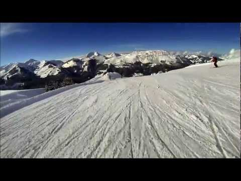 Skiing Kitzbühel - First Person View of run 27 Brunn