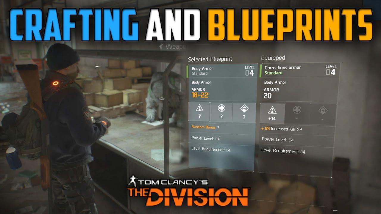 The division crafting mechanics and blueprints explained youtube malvernweather Images