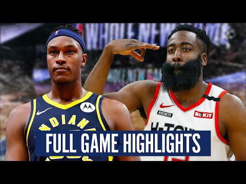 INDIANA PACERS at HOUSTON ROCKETS - FULL GAME HIGHLIGHTS | 2019-20 NBA Season