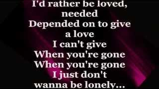 Just Don't Want To Be Lonely (Lyrics) - RONNIE DYSON