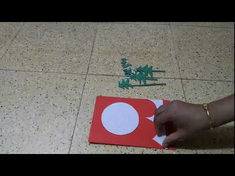 Christmas Card Making   How To Make Easy Christmas Card  DIY Christmas Card Making