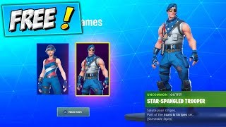 SPANGLED TROOPER & RANGER RETURNING (FREE SKINS) Fortnite 4TH Of July STYLE COMING BACK / RETURN