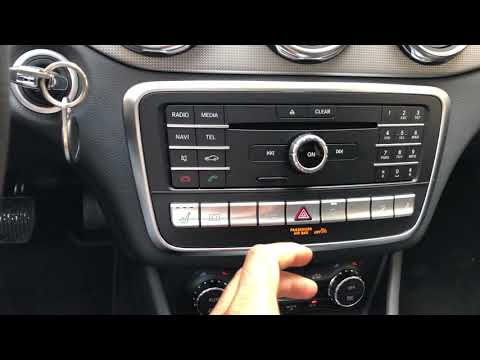 Mercedes-Benz GLA - Seat warmer turn on/off