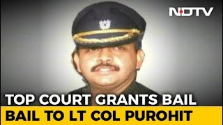 Malegaon Blast Accused Lt Col Purohit, In Jail For 9 Years, Gets Bail