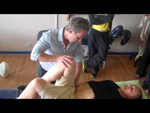 Strain counterstrain (SCS) or Positional Release Technique for the Psoas (Hip Flexors)