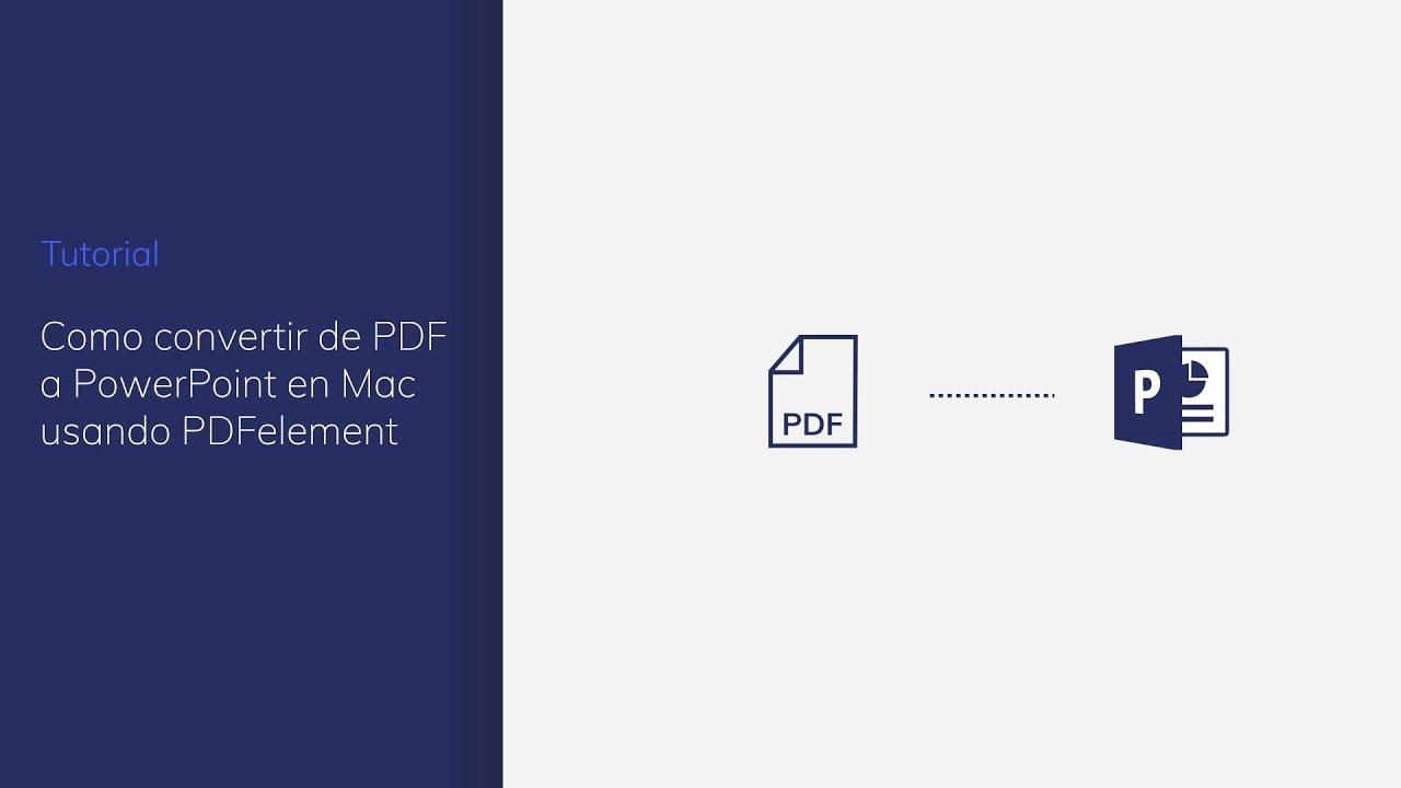 convertidor de pdf a powerpoint gratis para mac