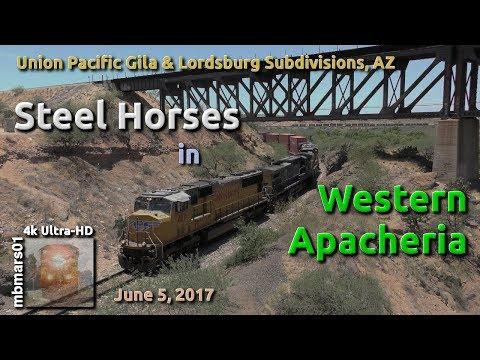 [5E][4k] Steel Horses in Western Apacheria, UP Gila & Lordsburg Subs, AZ, 06/05/2017 ©mbmars01