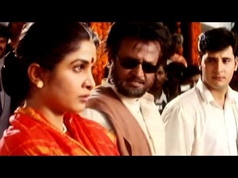 Narasimha Movie || Rajanikanth Stoping Abbas Marriage Action Scene