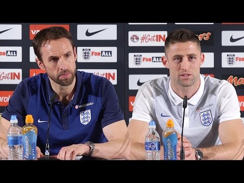 Gareth Southgate & Gary Cahill Pre-Match Press Conference - England v Germany