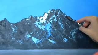 Как нарисовать горы, воду, туман. Лидия Иванова. Уроки для начинающих художников 2