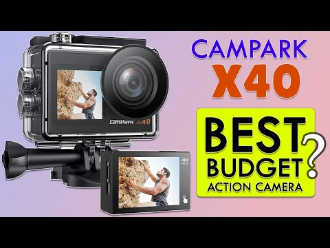 Campark X40 Vlogging Camera 4K 20MP Action Camera Dual Screen Unboxing Quick Review Sample Footage
