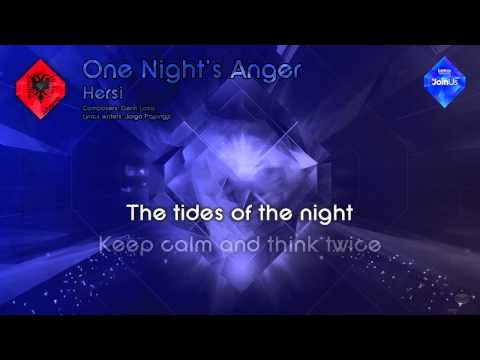 "Hersi - ""One Night's Anger"" (Albania) - [Karaoke version]"