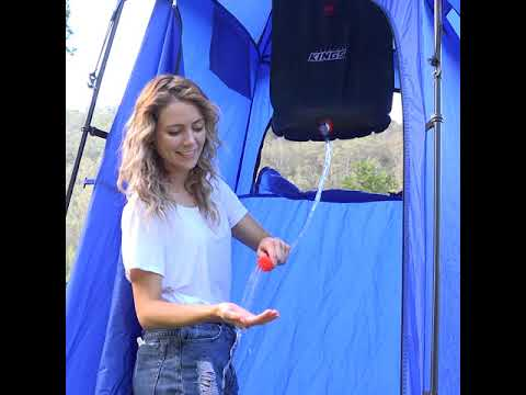 You Shower Every Day At Home, Why Not At Camp?  This Shower Tent Sets Up Easy And Folds Up Small