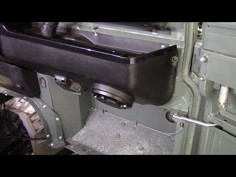 Recovering The Lower Dash On A Defender. Part 2 - Recovering With Vinyl