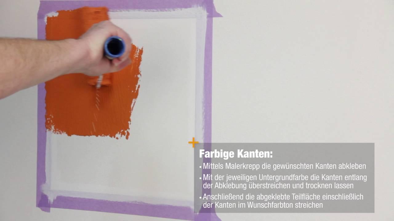 Profi Maler Tipp 4 Farbige Kanten Herstellen So Einfach Ist