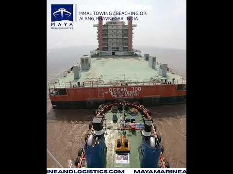 Accommodation Barge 'Ocean 700' Towing Op. Maya Marine & Logistics