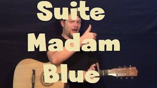 Suite Madam Blue (Styx) Easy Guitar Lesson Strum Chord Licks How to Play Tutorial