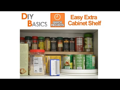 Small kitchen ideas add an extra shelf in your cupboards for Small kitchen ideas youtube
