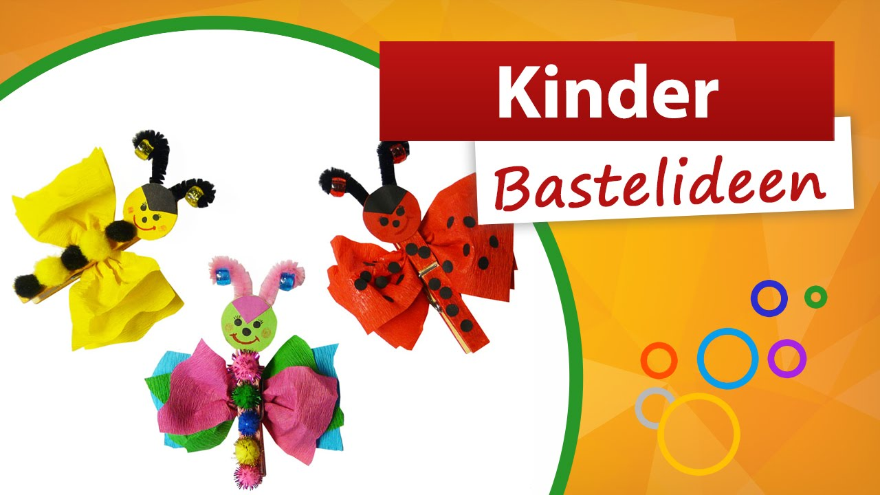 w scheklammertiere basteln trendmarkt24 kinder bastelideen youtube. Black Bedroom Furniture Sets. Home Design Ideas