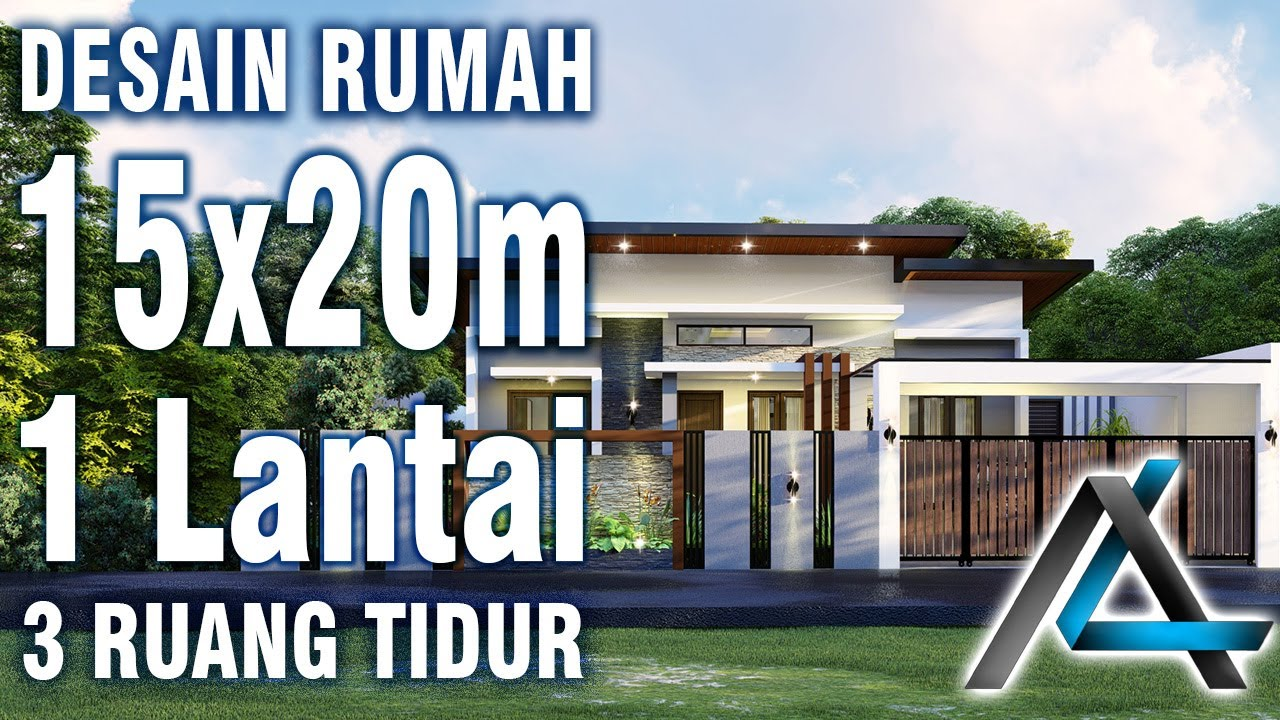 Desain Rumah 15 X 20 Meter I Surabaya 3d Animasi Rumah Minimalis Modern 1 Lantai Youtube