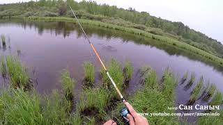 Думал провальная рыбалка, но взяла щука под два кило