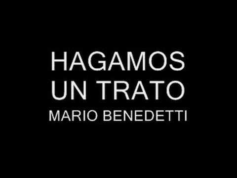 Resultado de imagen para MARIO BENEDETTI HAGAMOS UN TRATO