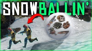 The FASTEST SNOWBALL START on WIPE DAY - Rust Duo Survival