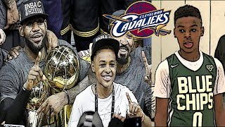 What if Lebron James and Lebron James Jr played for the same NBA Team?
