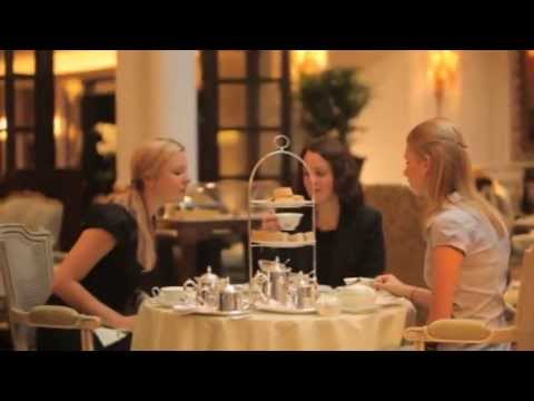 Tea time at the Savoy Hotel in London