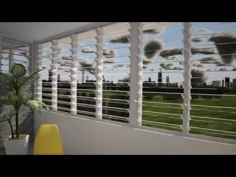 Altair Louvre Windows with Stronghold - Manage Fresh Air, Noise and Fall Prevention