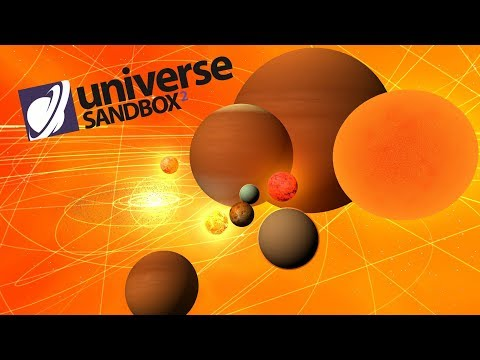 Making A Solar System Out Of Orange Objects, Universe Sandbox ²