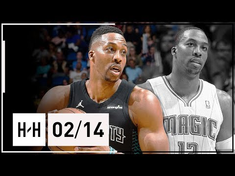 Dwight Howard Full Highlights Hornets vs Magic (2018.02.14) - 22 Pts, 13 Reb in Orlando!