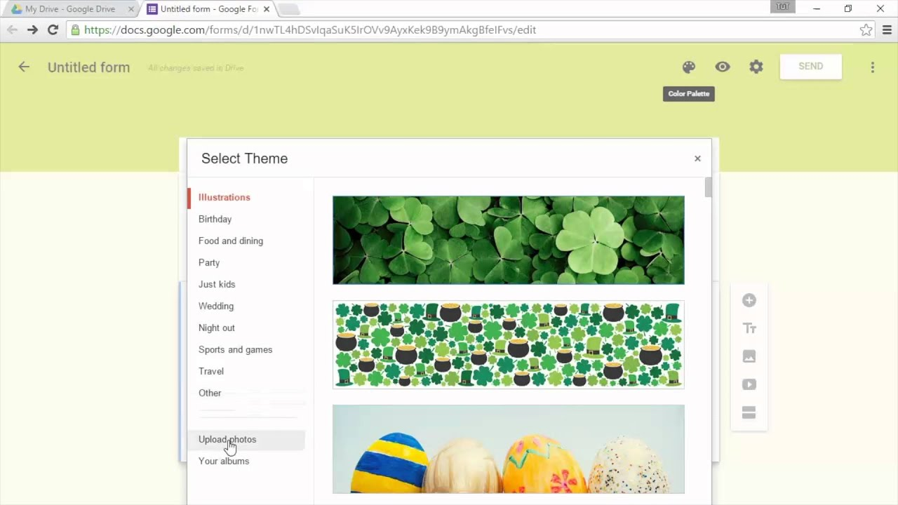 New Google Forms - Change Appearance with a Custom Theme - YouTube