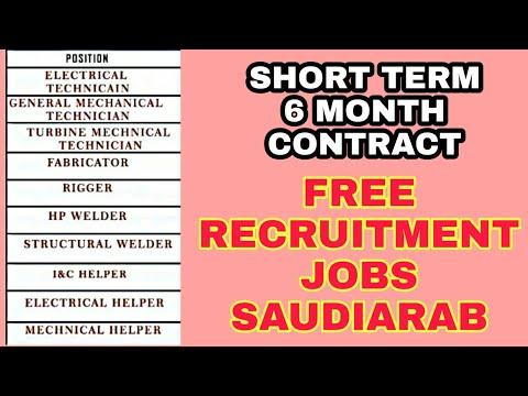 Free Visa Saudiarab Jobs Helper Rigger Welder Fitter Technician Fabricator Electrician Job Saudi Youtube