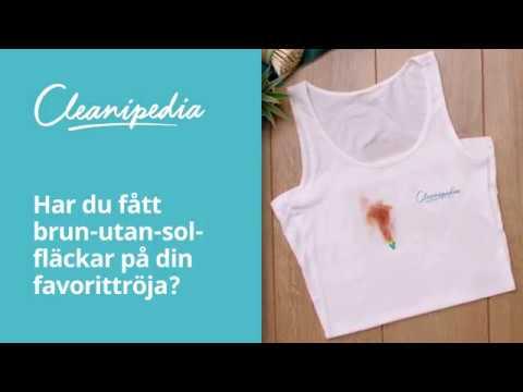 få bort deofläckar på kläder
