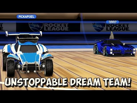 YOU'VE NEVER SEEN THIS MANY WINS IN 30 MINUTES - THE DREAM TEAM | Rocket League 2v2 Hoops W/ Zirro