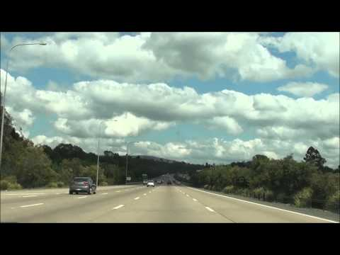 Driving to Brisbane from the Gold Coast, Queensland, Australia