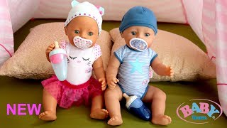 New Baby Born Interactive Dolls! Baby Dolls Care Routine Pretend Play with Nursery Toys