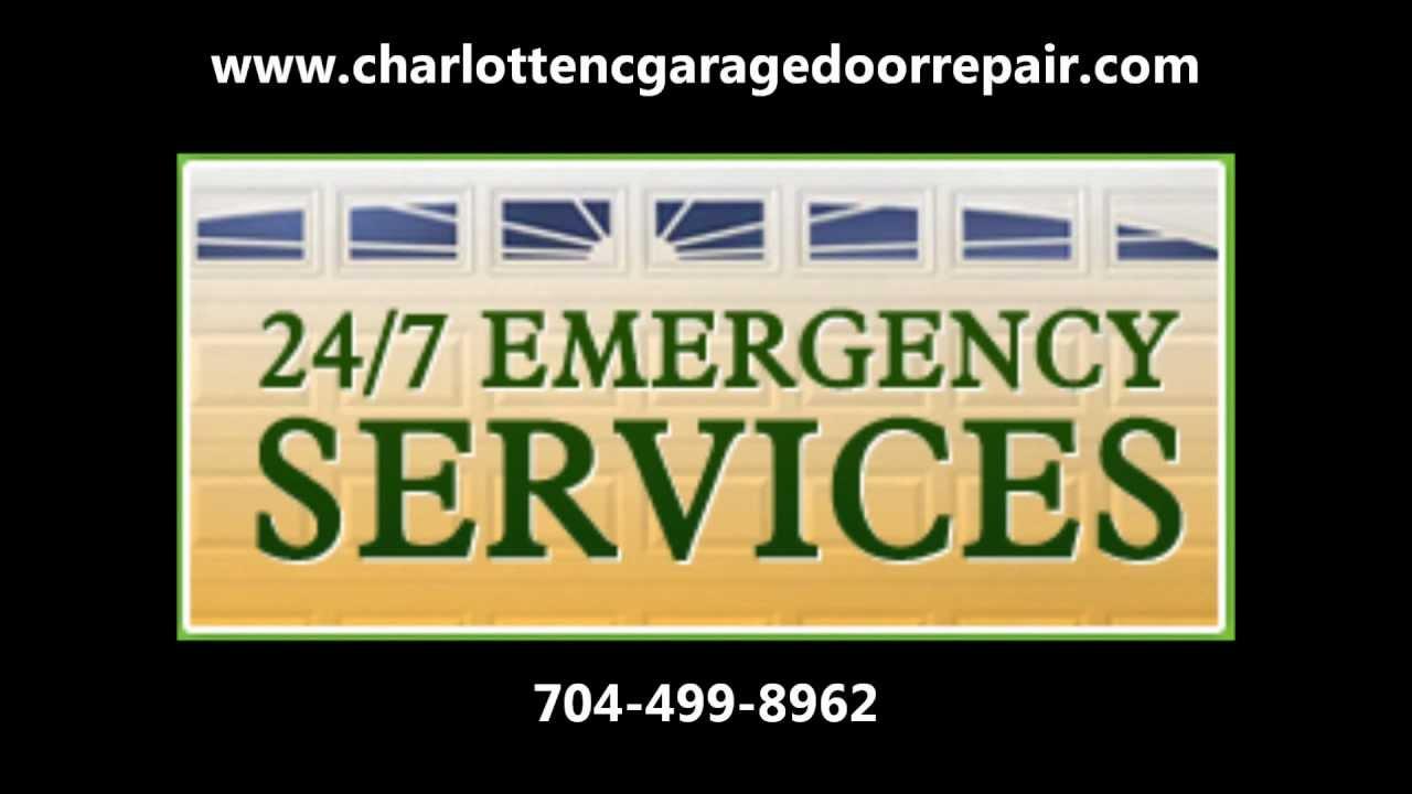 Charlotte Nc Garage Door Repair 704 499 8962 Free Estimate Youtube