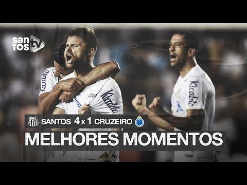 SANTOS 4 X 1 CRUZEIRO | MELHORES MOMENTOS | BRASILEIRÃO (23/11/19)