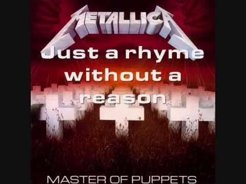Metallica - Master Of Puppets (Lyrics)