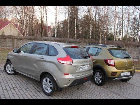 Лада XRAY против Renault Sandero