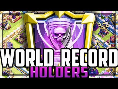 WORLD RECORD Holders in Clash of Clans! The MOST, BEST, FIRST!