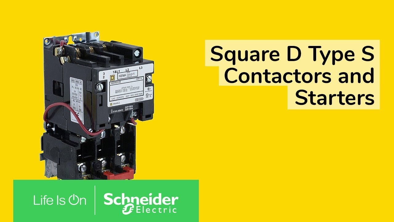 maxresdefault square d type s contactors and starters youtube 8911dpsg43v09 wiring diagram at reclaimingppi.co