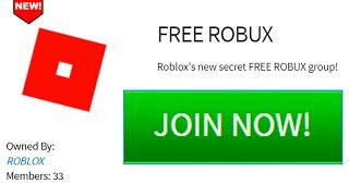 Roblox new FREE ROBUX GROUP!