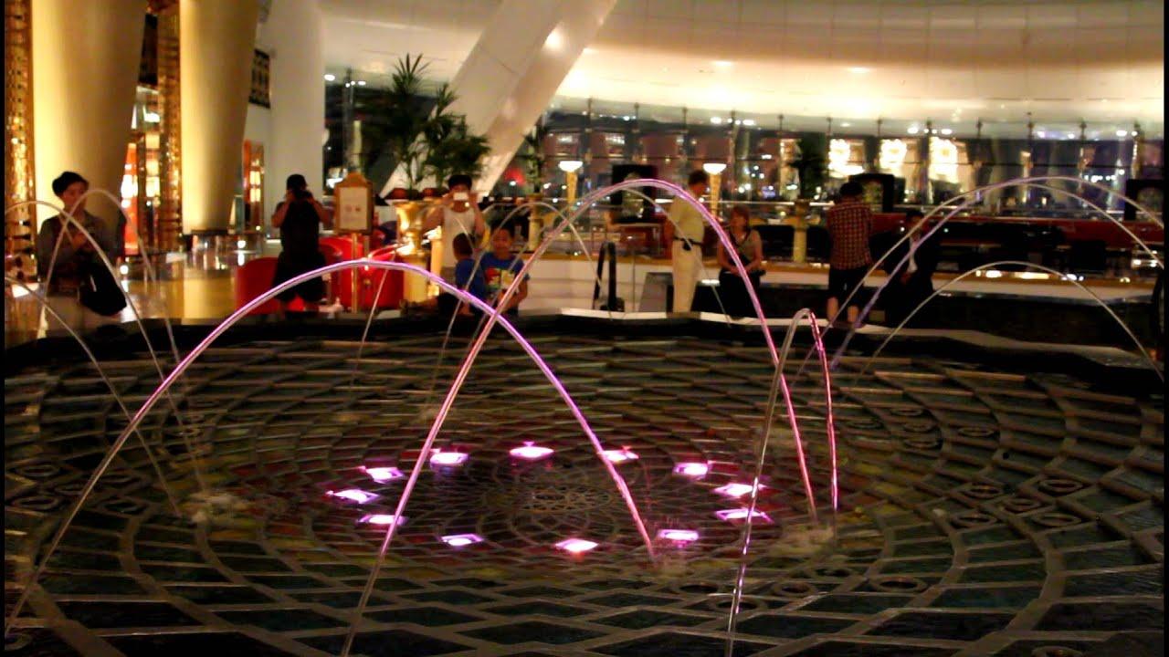 Burj Al Arab Lobby Fountain Youtube
