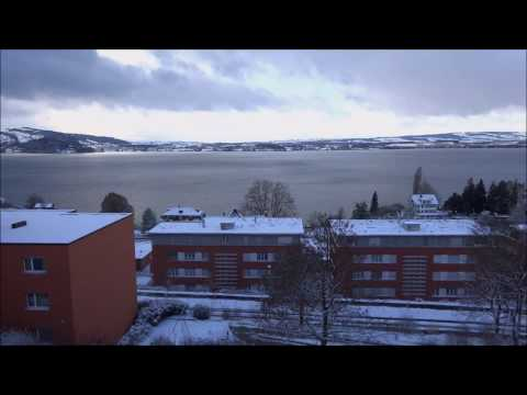 Snow storm, Lake Zug