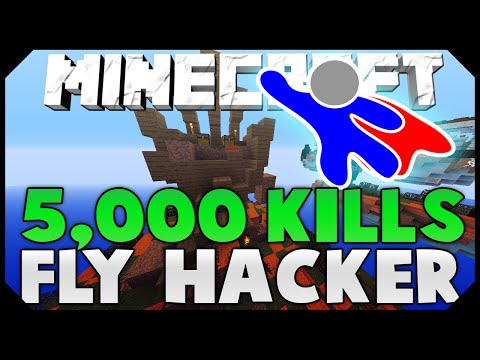 5,000 SOLO KILLS + FLYING HACKER! ( Hypixel Skywars )