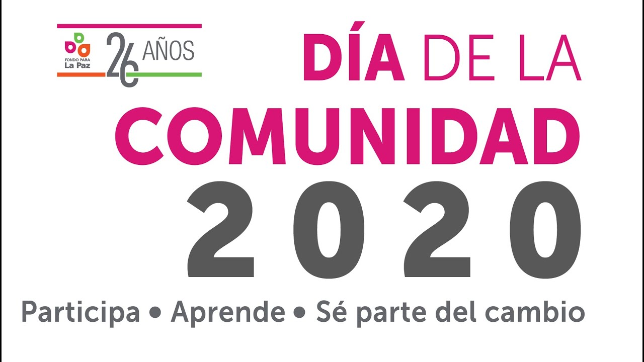Invitación ¡Celebremos juntos en Comunidad! | Día de la Comunidad Febrero 2020